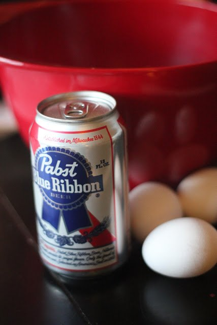 Pabst and eggs