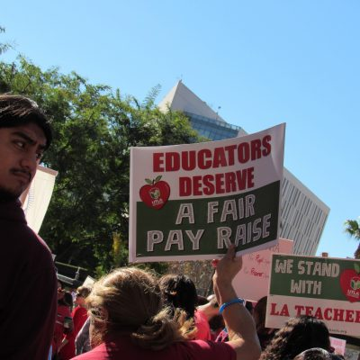 Red for Ed - UTLA, Supporters take to the Streets for Teachers March