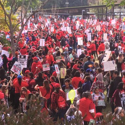 UTLA Strike Solidarity Takes Downtown...Again!