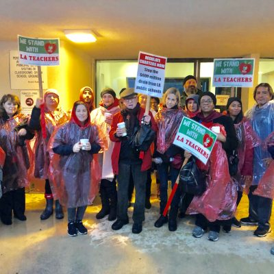 On a Rainy Monday, Oceans of Solidarity for Striking UTLA Teachers