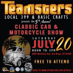 (LA) Teamsters / Basic Crafts' Classic Car & Motorcycle Show @ Woodley Park