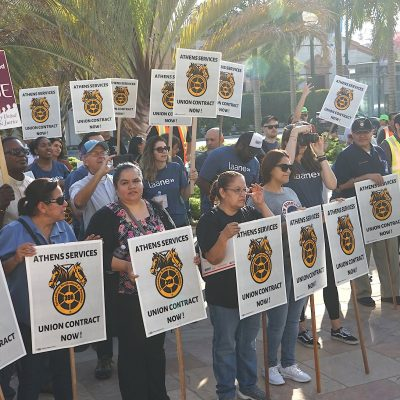 Hundreds March Through Beverly Hills in Support of Waste Workers