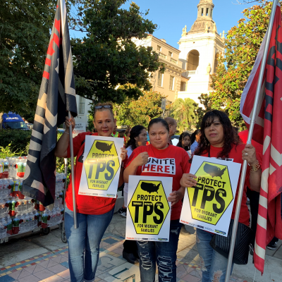 Labor Joins Rally as TPS Holders Urge 9th Circuit to Maintain Injunction Preventing Trump Administration from Terminating the Legal Status of 400,000 People