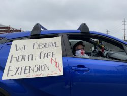 Hotel Workers Participate in Car Caravan to Call Attention to Need for Healthcare Coverage Pandemic