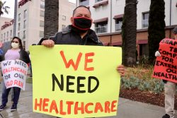"""""""Left Behind"""" Santa Monica Hotel Workers Call Attention to Need for Healthcare Coverage Through COVID-19 Pandemic"""