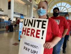 LAX Workers Protest Alleged Violation of Minimum Wage Law